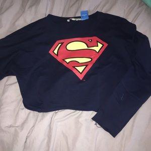 Tops - Superman crop top